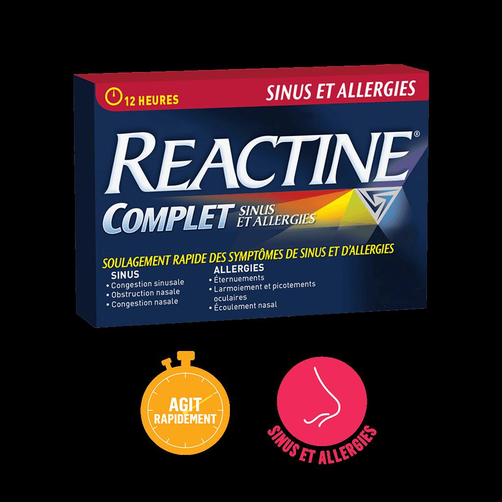 Reactine Complet Sinus et Allergies