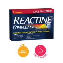Reactine Complet Sinus et Allergies