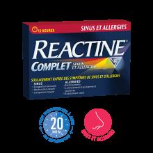 REACTINE® Complet, Sinus et allergies