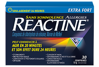 Reactine Extra Fort Sans Somnolence